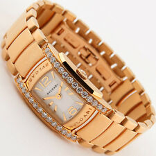 Bvlgari Assioma D 18K Pink Gold Diamond Bracelet Ladies Watch AA26WGD1G B/P