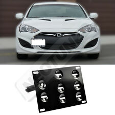 Rev9 For Genesis Coupe 10-14 Front Bumper Tow Hook License Plate Mount Kit Set