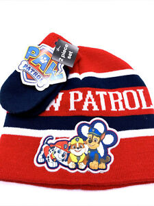 Paw Patrol Nickelodeon Beanie And Gloves Set For Kids 2T-5T