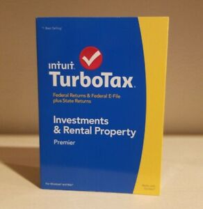 Turbotax 2014 Investments and Rental Properties Premier. NEW