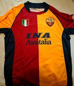 Roma Shirt Jersey - H - 2001 / 2002 - Champions League - Totti 10 - XL - Kappa