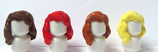 LEGO 4 Girl Female Hair Wig For Minifigure Figure  Wavy Red Blonde Brown Ginger