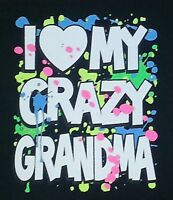 I LOVE MY CRAZY GRANDMA Youth kids toddler size t-shirt 6 Months To 18-20 BEST