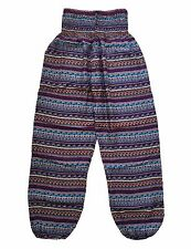 New Harem Pants, Baggy One Size Urban Stripe Hippie, Yoga, Maternity, Boho