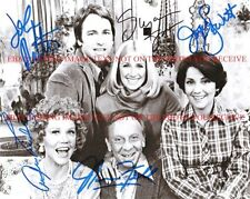 THREE'S COMPANY CAST SIGNED AUTOGRAPH 8x10 RP PHOTO JOHN RITTER SOMERS THREES 3s