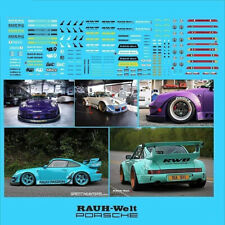 RAUH-Welt RWB PORSCHE Waterslide Decals 1/64 Hot Wheels Kyosho Ignition TARMAC
