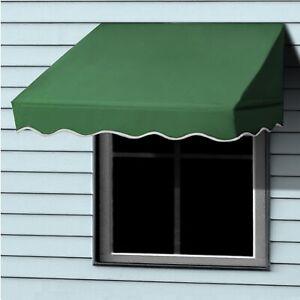ALEKO Window Awning Door Canopy Decorator 8x2ft Shade Shelter Green
