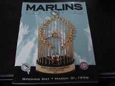 Florida Marlins vs Chicago Cubs Program 3-31-98 Opening Day Livan Hernandez