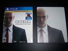 Replacement Case (NO GAME) Hitman w/Sleeve & Steelbook PlayStation 4 PS4 Box