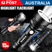 CREE L2 LED Tactical Flashlight USB Rechargeable Camping Hunting Torch 120000LM
