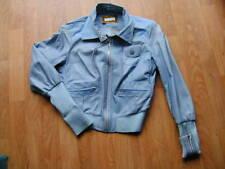 Blouson cuir et tissu bleu clair EVOLUTION taille 36  TBE