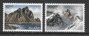 ICELAND - 1991.  Landscapes - Set of 2, MNH