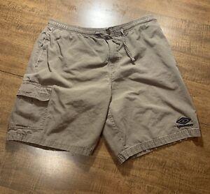 Vintage Umbro Cargo Shorts Mens Size Medium Green Embroidered Logo