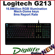 Logitech G213 Prodigy RGB Gaming Keyboard 16.8 Million Color RGB Illumination