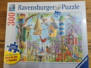 Bird Jigsaw Puzzle 300pc ravensburger Extra Large Pieces Game Birds Tree Flower