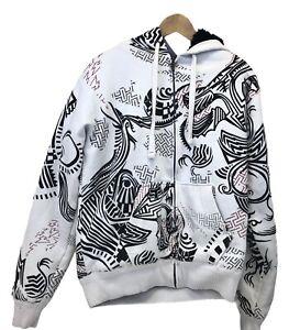 FOX RACING MX Sasquatch Faux Fur Lined Jacket Full-Zip Hoodie Men's Medium