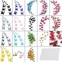 12/18Stk. 3D Schmetterlinge Wandtattoo Home Wand Deko Sticker Aufkleber Wahlbar