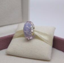 New w/Box Pandora Pale Purple Shimmer Murano & Dichroic Glass Charm Bead #791651