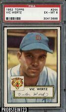 1952 Topps #244 Vic Wertz Detroit Tigers PSA 6 EX-MT