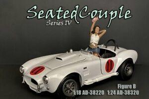 SEATED COUPLE SERIES IV FIGURE B AMERICAN DIORAMA 38320 1/24 scale Figurine