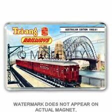 TRI-ANG (Triang) TRAINS AUSTRALIAN CATALOGUE ARTWORK JUMBO Fridge /Locker Magnet