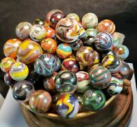 VINTAGE GLASS MARBLES JABO 86 MARBLES D.A.S.  INVESTOR COLLECTION 0.99 NR