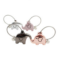 AM_ CARTOON ELEPHANT ANIMAL KEYCHAIN STEEL WIRE KEY CHAIN KEYRING COUPLE GIFT CL