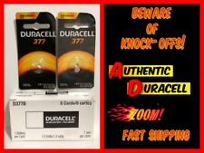 2x DURACELL 377 (#SR66/SR626W/376) Button Lithium Battery 1.5 Volt NEW