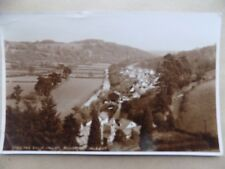 Vintage Old Postcard Posted 1956 The Barle Valley Dulverton Somerset Houses b