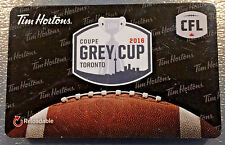 2016 Grey Cup TORONTO  (FD54001) Tim Hortons Collectible gift card