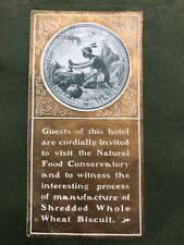 Niagara Falls Maiden Menu Shredded Wheat Prospect House 1905