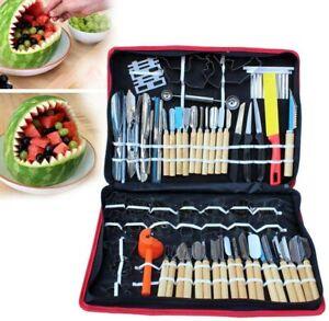 80 Pcs Kitchen Food Carving Tools Vegetable Fruit Sculpting Peeling Culinary Kit