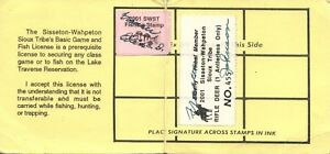 2001 USA Tampon #LT87# LT94 Elder Tribal Membre Swst Jeu & Poisson Chasse
