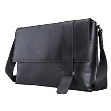 Gift Men Nappa Leather Black Messenger Shoulder Cross Body Sling Document Bags