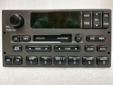 Lincoln cassette radio w RDS. OEM original Alpine stereo. Factory remanufactured