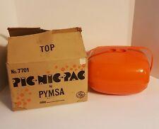Orange Pic-Nic-Pac Complete In Box Retro Picnic Camping Set #7701 MCM Vintage