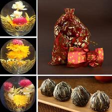 10 BLOOMING FLOWER FLOWERING JASMINE GREEN CHINESE TEA BALL HANDMADE IN BAG