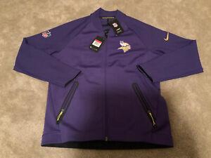 NIKE Minnesota Vikings NFL On Field Therma DRI-FIT Jacket Purple Sz L 852905-545