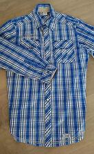 s.OLIVER, Modisches Hemd, blau/weiß kariert, Gr. 164, viele modische Akzente