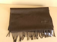 Salvatore Ferragamo Fringe Scarf Vicuna brown  new with tags