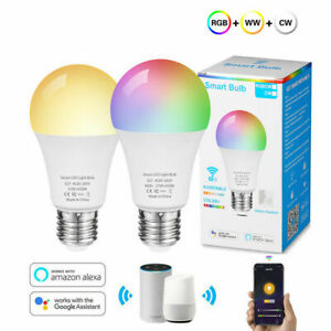 Wifi Smart LED light Bulb E27 Dimmable For Alexa Google Home Remote Control
