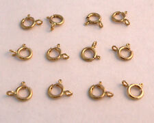 14K Yellow gold spring ring clasp  5mm