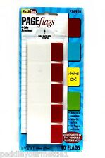 """Redi-Tag Page Flags 76920 Standard 4 Color Assortments 40 Flags 1 11/16"""" x 1"""""""