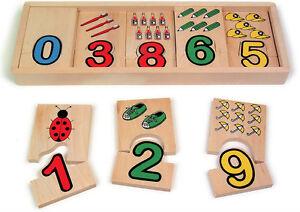 Zahlen Zuordnung Kinder Mengen Zahlen Lernspiel Rechnen Spiel Vorschule Puzzle