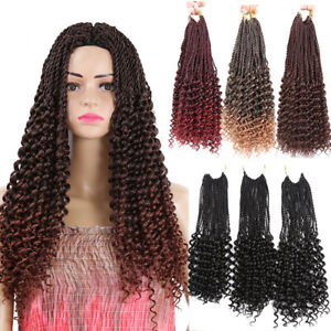 34strands Senegalese Curly Weave Twist Crochet Braids Synthetic Hair Extensions