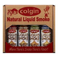 """COLGIN LIQUID SMOKE GIFT"" - Hickory, Apple, Mesquite & Pecan - BBQ Marinade"