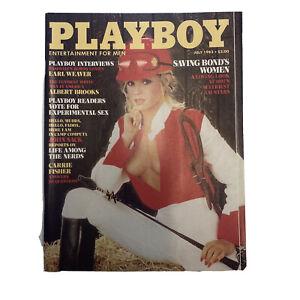 PLAYBOY Magazine Vintage Centerfold July 1983 Bond's Women Carrie Fisher