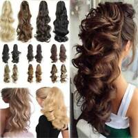 Claw Thick Wavy Curly Pony Tail Layered Ponytail Clip In On Hair Long Extensions