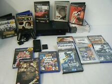 SONY PLAYSTATION 2 BUNDLE CONSOLE CONTROLLER MEMORY AND 20 GAMES