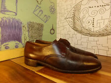 Church's Custom Grade Brown Leather Plain Toe Oxfords Men 8M Truly Vintage